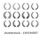 collection of laurel wreaths | Shutterstock .eps vector #135154307