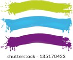 brushstrokes - stock vector
