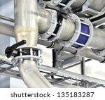 large industrial boiler room | Shutterstock . vector #135183287