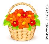 Vector Beige Basket With...