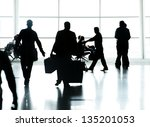 people traveling on airport... | Shutterstock . vector #135201053