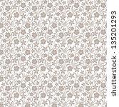 Stock vector seamless floral pattern vector illustration 135201293