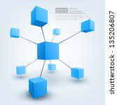 vector illustration of 3d cubes | Shutterstock .eps vector #135206807