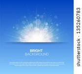 shiny sun vector  sunbeams ... | Shutterstock .eps vector #135260783
