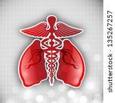 world asthma day background... | Shutterstock .eps vector #135267257