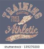 athletic department    vintage... | Shutterstock .eps vector #135270203