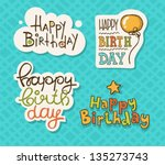 vector illustration of a happy... | Shutterstock .eps vector #135273743