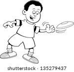 black and white illustration of ... | Shutterstock . vector #135279437