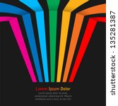 Rainbow Stripes On Dark...