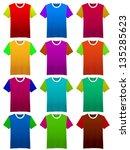 plain t shirt uniform template. | Shutterstock . vector #135285623