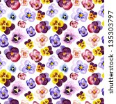 seamless watercolor pattern... | Shutterstock . vector #135303797