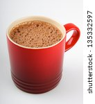 hot chocolate mug with bubbly... | Shutterstock . vector #135332597