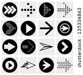 arrow sign vector icon set.... | Shutterstock .eps vector #135336863
