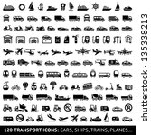 120 transport icons  cars ... | Shutterstock .eps vector #135338213