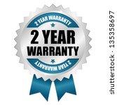 2 year warranty seal blue | Shutterstock .eps vector #135358697