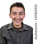 portrait og a joyful teenager... | Shutterstock . vector #135363323