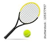 Vector Illustration Of Tennis...