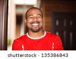 portrait of happy smiling... | Shutterstock . vector #135386843