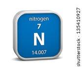 nitrogen material on the...   Shutterstock . vector #135410927