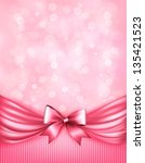 holiday pink background with... | Shutterstock .eps vector #135421523