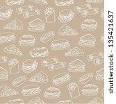sandwich wrap   fast food... | Shutterstock .eps vector #135421637