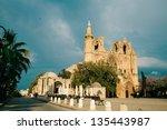 lala mustafa pasha mosque... | Shutterstock . vector #135443987