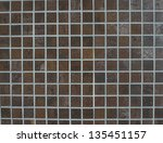 a wall of brown tiles usable as ... | Shutterstock . vector #135451157