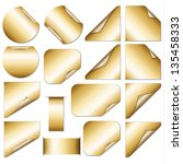 set of golden stickers   eps10   Shutterstock .eps vector #135458333