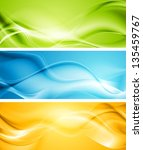 elegant smooth waves banners.... | Shutterstock .eps vector #135459767