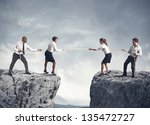 concept of team and competition ... | Shutterstock . vector #135472727