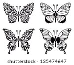 vector set of butterflies ...