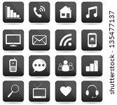 communication buttons set  e... | Shutterstock . vector #135477137