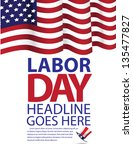 labor day template. eps 8... | Shutterstock .eps vector #135477827