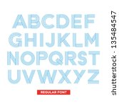 typography type font stripes... | Shutterstock .eps vector #135484547