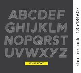 typography type font stripes... | Shutterstock .eps vector #135484607