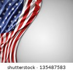 closeup of american flag on... | Shutterstock . vector #135487583