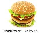 hamburger on white background | Shutterstock . vector #135497777