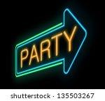 illustration depicting a neon... | Shutterstock . vector #135503267