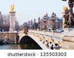 paris  france   march 4  pont... | Shutterstock . vector #135503303