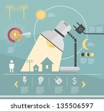 infographic. saving light.... | Shutterstock .eps vector #135506597