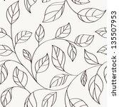 pattern seamless leaves...   Shutterstock .eps vector #135507953