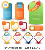 web element set | Shutterstock .eps vector #135512147