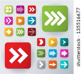 arrow icon set. vector. | Shutterstock .eps vector #135516677
