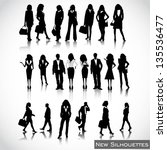 business people silhouettes... | Shutterstock .eps vector #135536477