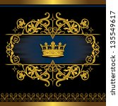 crown regal heraldry frame and label