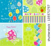 template easter greeting card.... | Shutterstock . vector #135571757