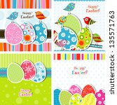 template easter greeting card | Shutterstock . vector #135571763