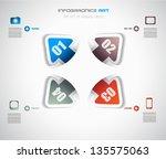 infographic design template... | Shutterstock .eps vector #135575063