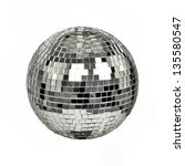 Disco Mirror Ball Isolated On...