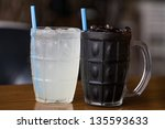 black and white tea cup | Shutterstock . vector #135593633